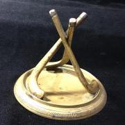 Латунный сувенир Хоккей