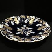 Декоративная тарелка Кобальт с позолотой Мейсен