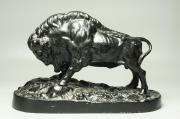 Скульптура Разъяренный зубр силумин Куса