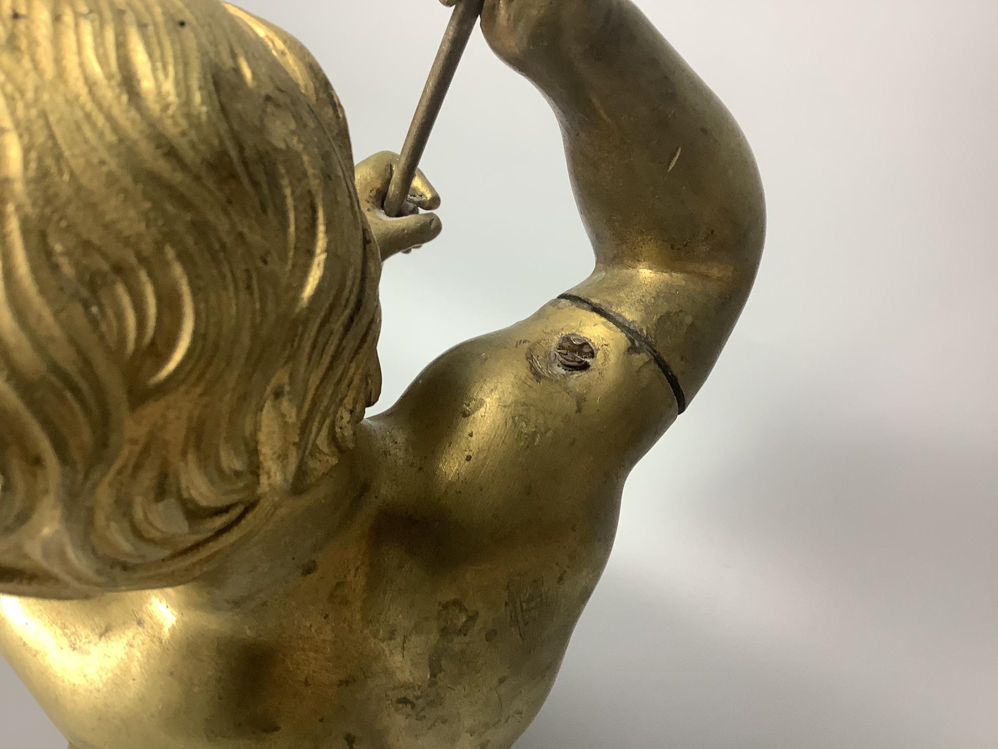 Скульптура бронзовая Мальчик с копьем