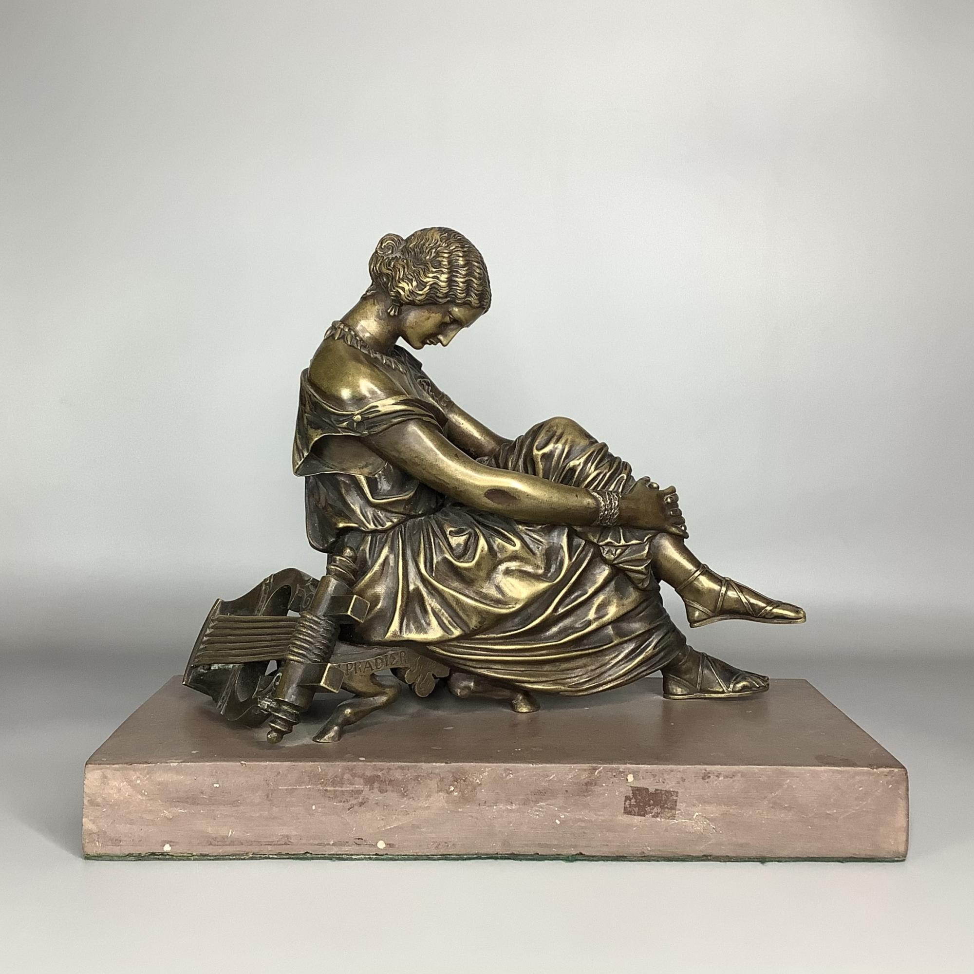 Скульптура кабинетная Сапфо бронза